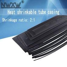 10 meters/lot Insulation heat shrinkable tube black diameter 0.6MM/0.8MM/1MM/1.5MM/2MM/2.5MM/3MM/3.5MM/4MM/4.5MM shrink tube