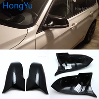 For BMW 3 Series GT 3GT F34 2013 2018 Replace the original car mirror cover M3 M4 appearance bright black mirror cover
