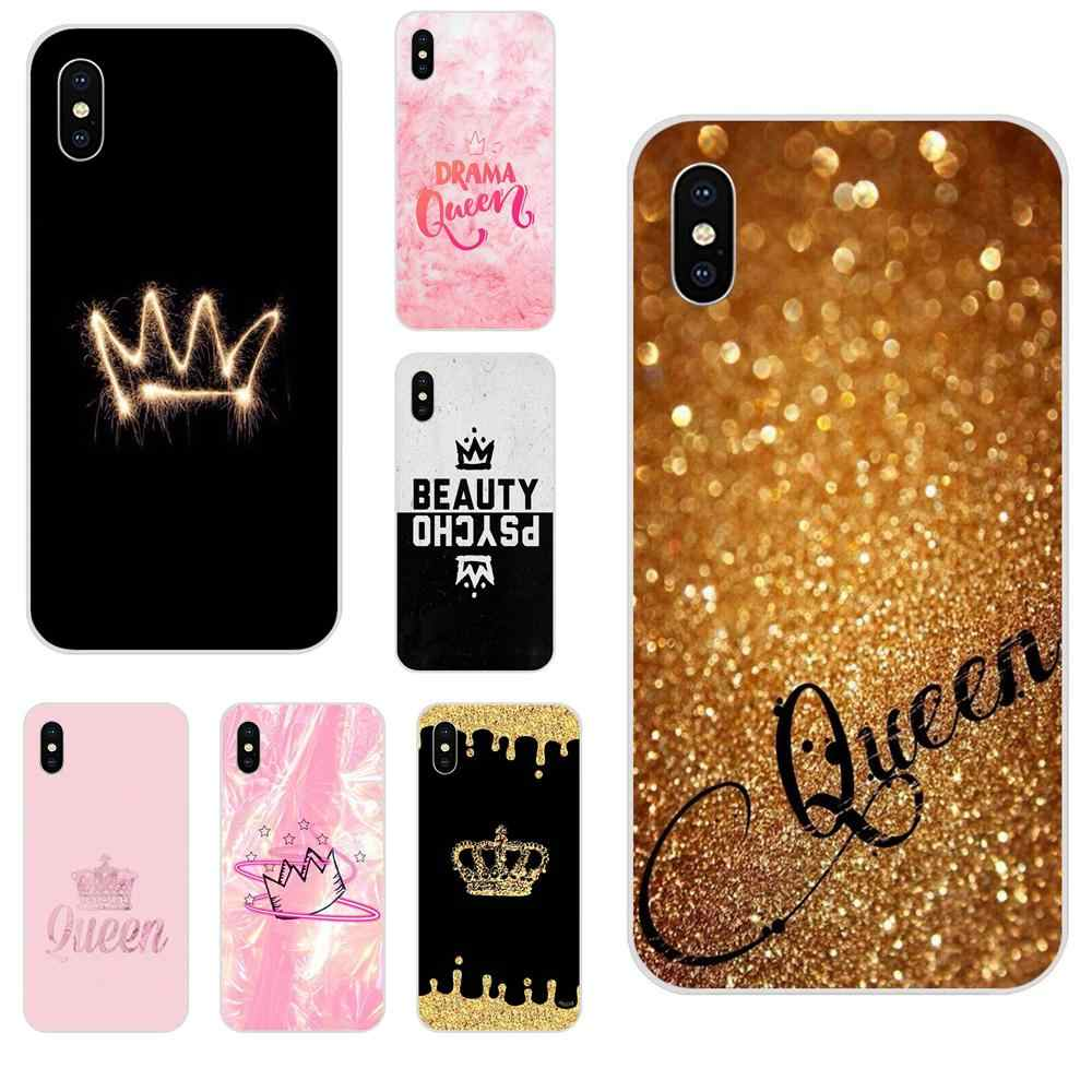 Queen Crown King Princess Soft Capa Coque For Galaxy Alpha Note 10 Pro A10 A20 A20E A30 A40 A50 A60 A70 A80 A90 M10 M20 M30 M40