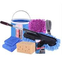 Auto Reinigung Tool Kit 9Pc Auto Waschen Werkzeug Kit Handtuch Mopp Abstauben Pinsel Auto Reinigung Liefert Waschen Werkzeuge