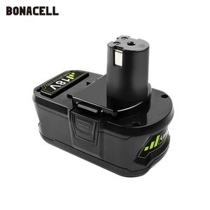 Image 3 - Bonacell 18V 4000mAh Li Ion P108 P 108 Rechargeable Battery For Ryobi Battery RB18L40 P2000 P310 for BIW180 L30