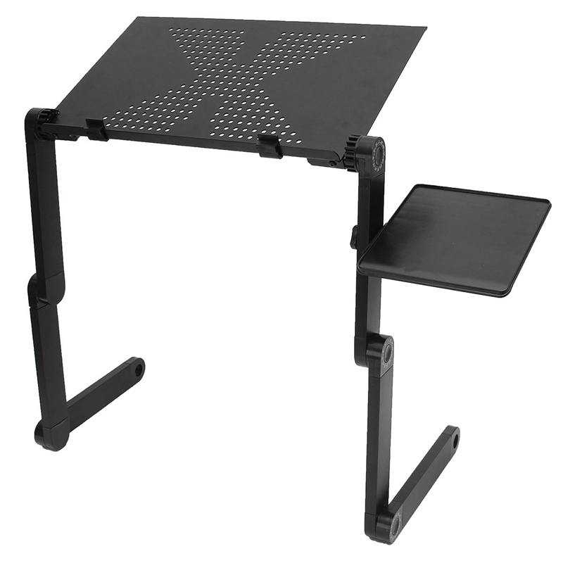 Foldable Portable Laptop Desk Tray PC Table Stand Notebook Table Desk Ergonomic Lapdesk  Stand With Mouse Pad Drop Shipping