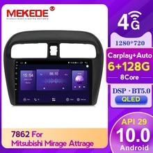 ¡! Android 10,0 6GB + 128GB Auto Radio Multimedia para Mitsubishi Mirage 6 2012 - 2018 con DSP carplay WIFI 4G QLED pantalla