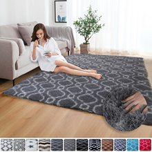 Высококачественный ковер из искусственного меха для детской комнаты, коврики для гостиной, искусственный ковер с рисунком плюшевого пола, ...