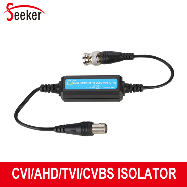 5pcs/lot New Ground Loop Isolator Video Balun Coaxial BNC Male To Female For CCTV HD TVI/CVI/AHD/CVBS Camera CCTV Isolator