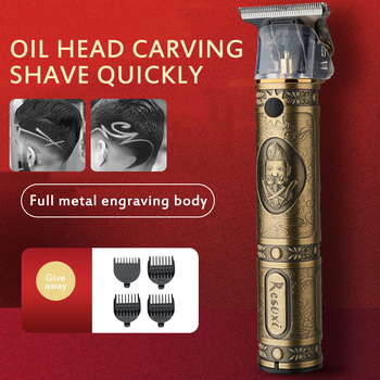 2020 USB Rechargeable Hair Clipper Electric hair trimmer Cordless Shaver Trimmer Men Barber Hair Cutting Machine for men
