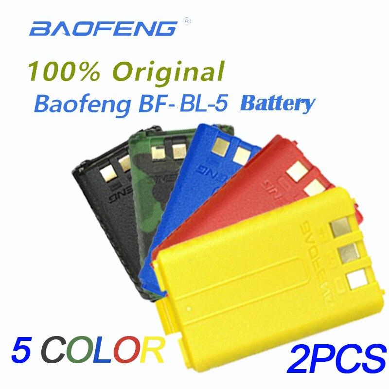 2PCS Original BL-5 Li-Ion Baofeng Uv5r  Walkie TalkieBattery 7.4V1800mAh For Baofeng UV-5R Uv-5re UV-5ra UV 5r Radio Accessories