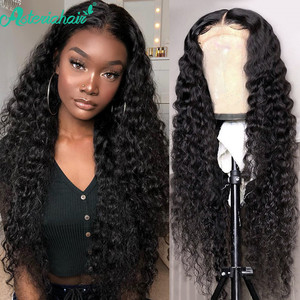 Asteria Hair Deep Wave 13x6 Lace Front Human Hair Wigs 13x4 Lace Frontal Wig Brazilian Human Hair Wigs For Black Women Remy Hair(China)