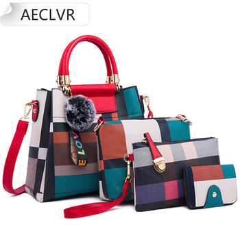 AECLVR 4pcs/Set Women Bag Ladies Hand Bags Luxury Handbags Women Bags Designer Bags For Women 2020 Handbag PU Composite Bag Luggage & Bags