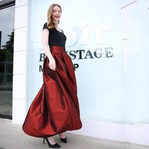 Image 2 - 2020 mode Lange Röcke Frauen Faldas Hohe Taille Gefaltete Womans Bodenlangen Rock Plus Größe Elastische Elegante Damen Jupe Röcke
