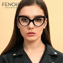 FENCHI-gafas transparentes con forma de ojo de gato para hombre y mujer, montura de gafas ópticas con bloqueo de luz azul