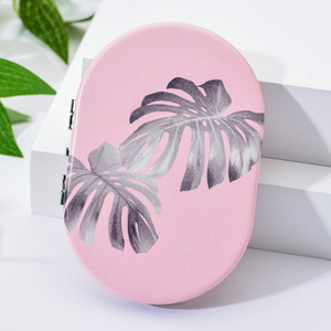 Image 5 - Vicney 2019 New Creative Mini Oval Makeup Mirror Compact Pocket Mirror Double Sided Fashion Classic Portable Makeup Mirror