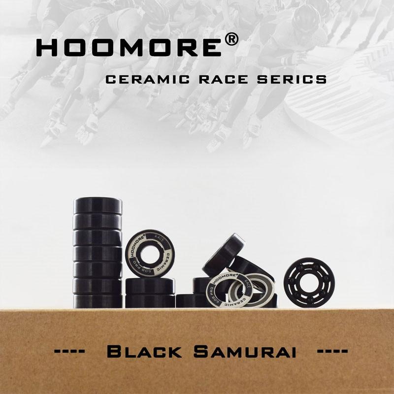 Professional Black Ceramic Speed Bearing 7 Balls Si3N4 608rs Competition Level Inline Skating Bearings Black Samurai Oxide 16pcs