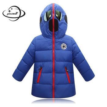 Niños Parkas chaqueta invierno niños niñas abrigos ropa cremallera de retazos con capucha gafas de sol ropa de niños h63