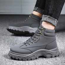 Outdoor Working Snow Boots Men Shoes High Quality Genuine Leather Winter Waterproof Ankle Riding *L588