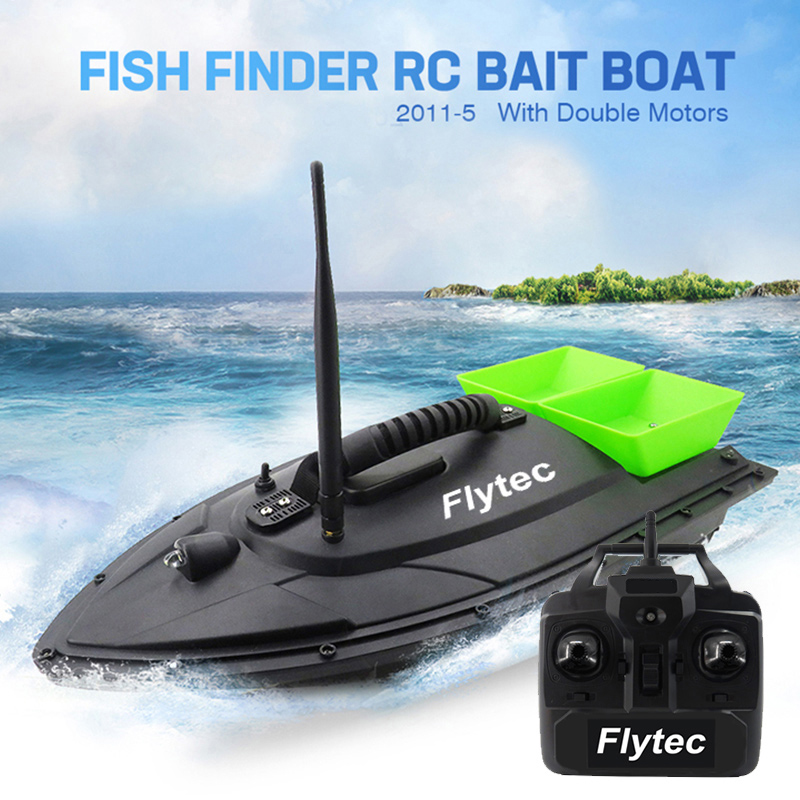 Fish Finder Fishing Bait Boat 500m Portable Rc fishing Boat Sea Remote Control Practical Beach Outdoor Feeding Particles Tackle image