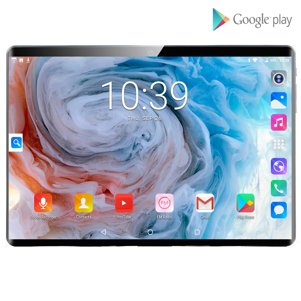 2020 New 10.1 Inch 4G Tablet PC 8 Core 6G+128GB ROM IPS 2.5D Tempered Glass Tablets Android 9.0 Kids Tablet