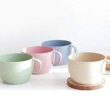 Пшеничная солома, молоко, Офисная кофейная чашка, чашка для завтрака, чашка с простой лентой, ручка для полоскания рта, чашки A