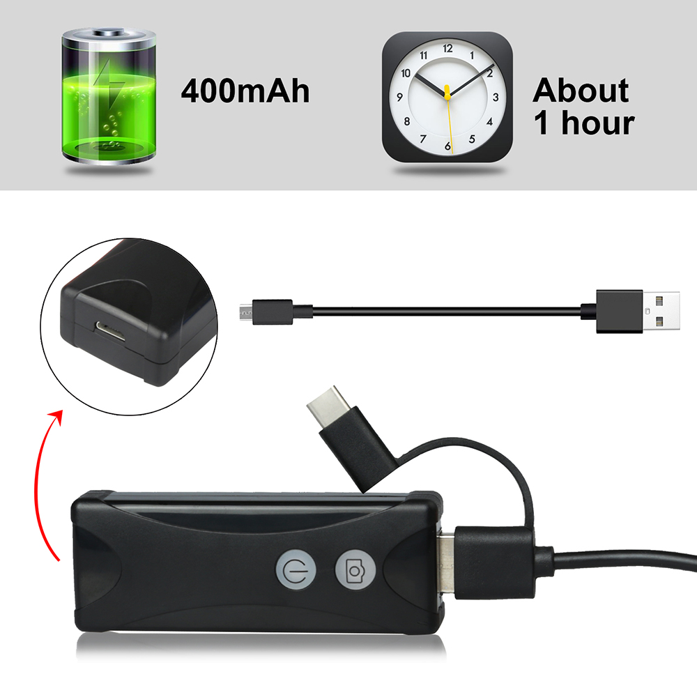 WIFI Endoscope Camera Mini Waterproof Soft&Hard Cable Inspection Camera 8mm USB Endoscope Borescope For IOS Iphone Android PC