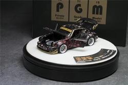 PGM 1:64 Prosche 911 RWB 964 RAUH-Welt sakura Black Luxury Diecast Model Car