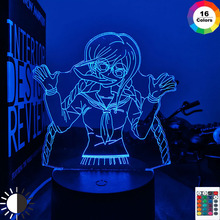 Danganronpa Toko Fukawa Led Night Light Lamp for Bedroom Decor Kids Gift Danganronpa Acrylic 3d Lamp Toko Fukawa