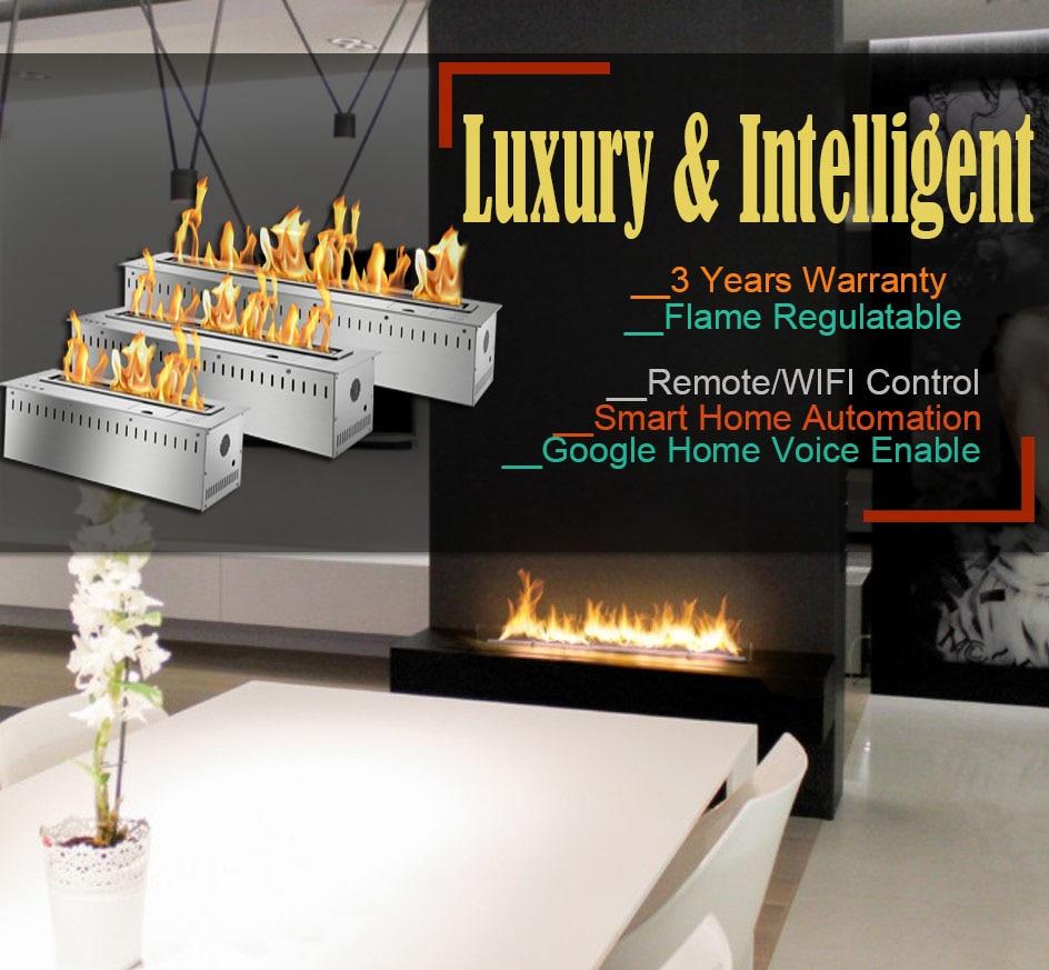 Inno Living  60 Inch Automatic Bio Ethanol Fireplace