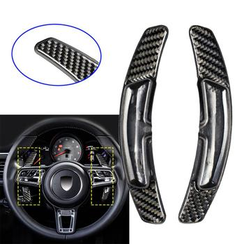Carbon Fiber PDK Shift Paddle Shifter Fit For Porsche 991 911 718 Panamera Macan Cayenne Steering Wheel Accessories