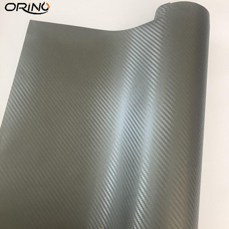 3D Carbon Fiber Grey Vinyl Wrap Sticker-2