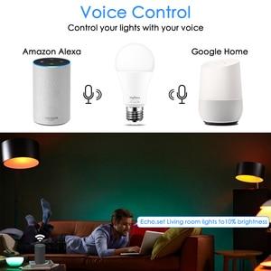 Image 3 - E27 ampoule intelligente 15W WiFi lampe LED changement de couleur ampoule magique lumières de réveil compatibles avec Alexa Google Assistant livraison directe
