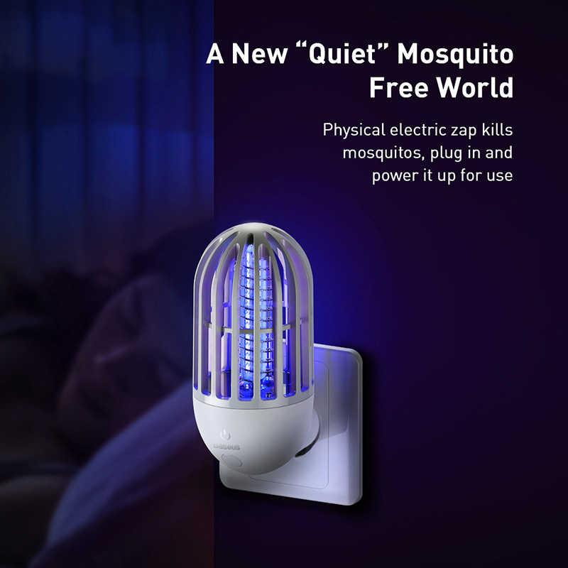 Baseus Nyamuk Pembunuh Lampu Socket Listrik LED Elektronik Bug Zapper Serangga Pembunuh Lalat Perangkap Lampu Anti Nyamuk Night Light
