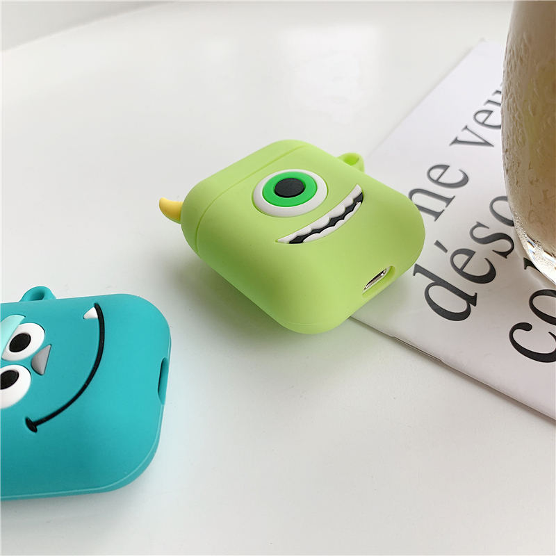 Image 4 - Bluetooth Earphone Case for Airpods 2 Accessories Protective Cover Bag Anti lost Strap Cute Cartoon Mini DIY Silicone Soft Cases-in Earphone Accessories from Consumer Electronics