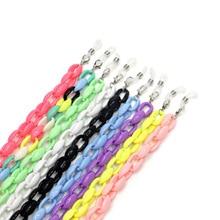 Акриловая цепочка для очков, 9 цветов, яркие цвета, креативная веревка для очков, массивный держатель для очков, ожерелье, аксессуары для солнцезащитных очков