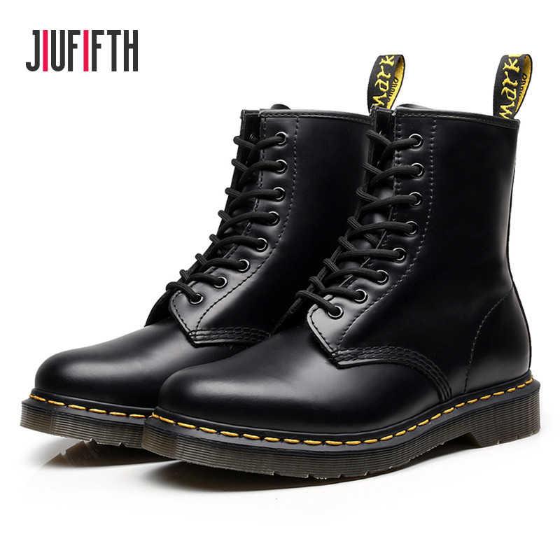 Giày Nữ Giày Nữ Mujer Giày Nam Da Thật Cao Cấp Chính Hãng Da Giày Xe Máy Boot Nữ Size Lớn 34-46