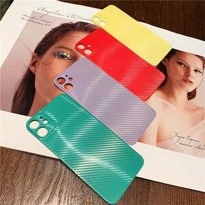 Роскошный стикер для телефона из углеродного волокна для iPhone 11, водонепроницаемая виниловая пленка, наклейка для iPhone11 Pro Max, Тонкая Декорати...