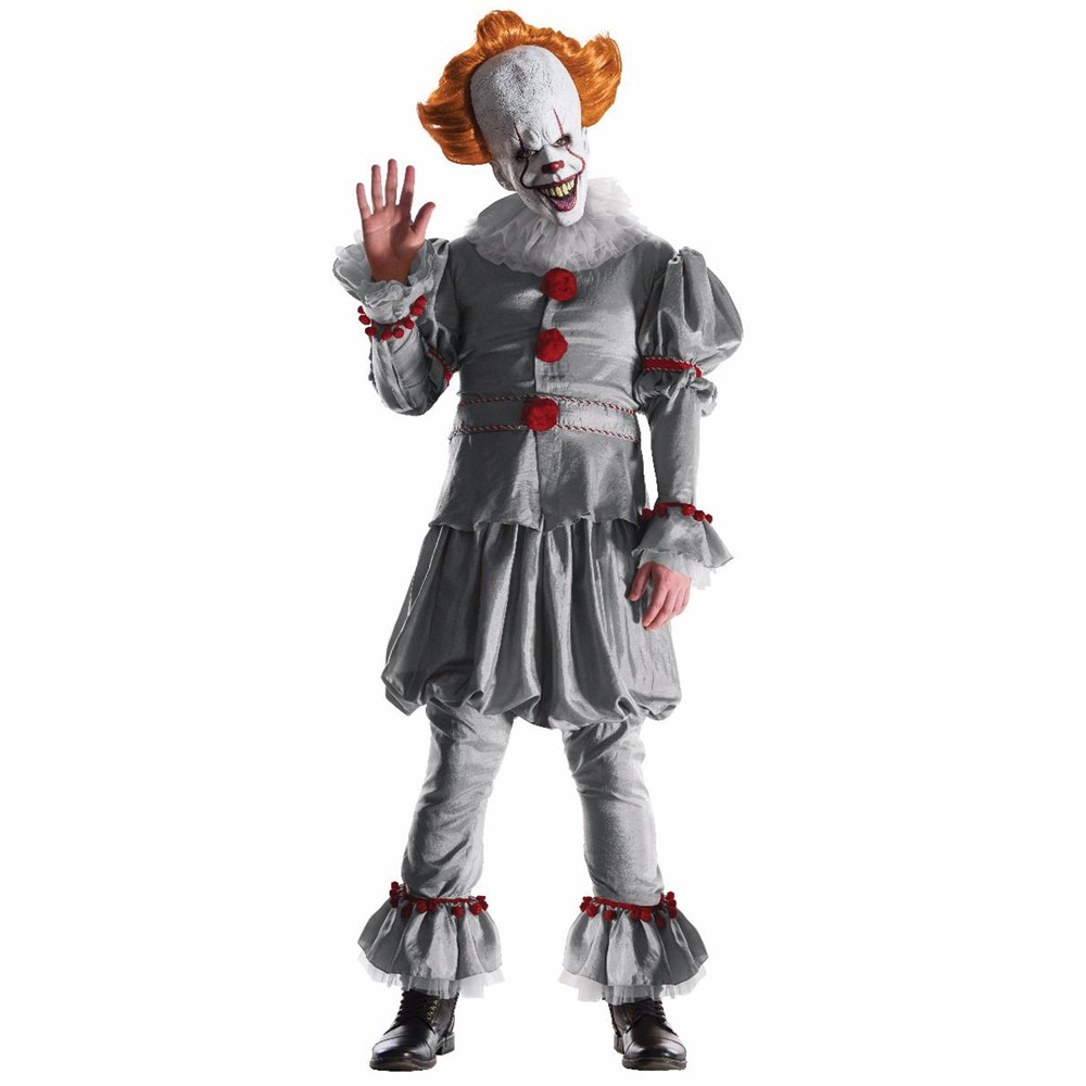 Snailify Halloween Costume For Adult Pennywise Costume Movie It: Chapter Two Cosplay Clown Killer Costume  Stephen King's Mask