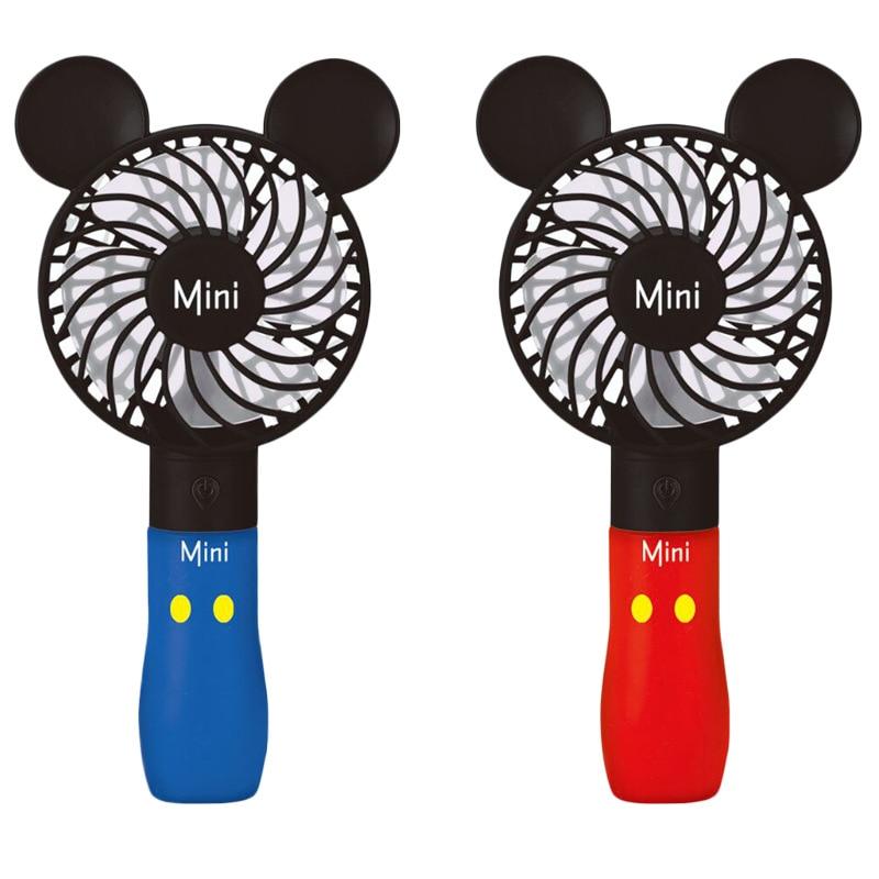 Hot Sales CHILDREN'S Cartoon Hand-Held USB Charging Fan Toy Summer Portable Desktop Three Block Cartoon Small Fan