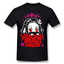 Kimetsu Geen Yaiba T-shirt Rode T-shirt Nezuko Kamado - Kimetsu Geen Yaiba Mannen Mode Korte Mouw