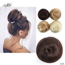 Xuanguang натуральный шиньон, шиньон, синтеtico borracha banda donut dois pente de plasstico fantasil raspido coque cabelo coque
