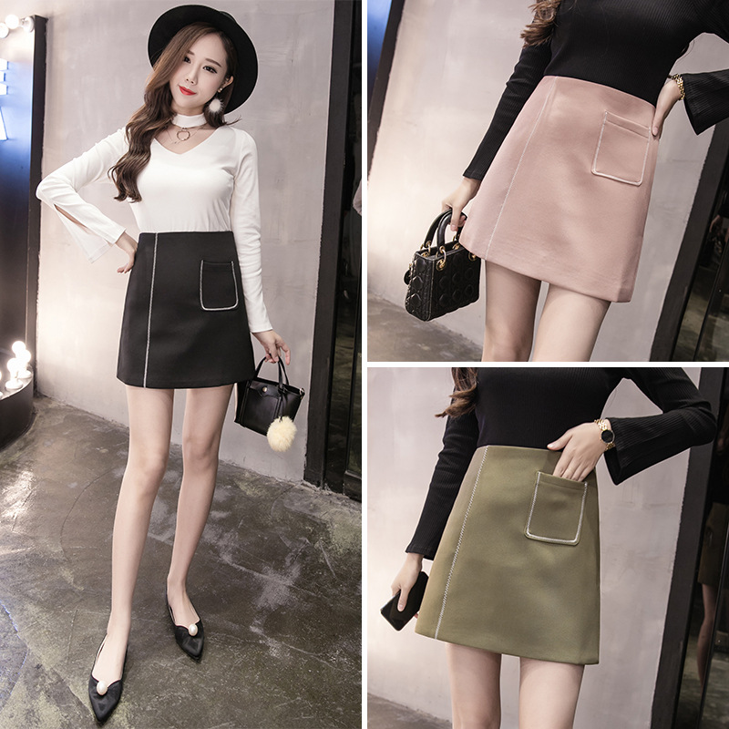 2017 Spring And Summer New Style Korean-style Large Size Slim Fit Slimming A- Line Skirt Short Skirt Skirt Great Type
