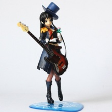 Figura de acción de Anime de 20cm, K ON, 5 ° aniversario, Akiyama Mio Bassist Bass Guitar, modelo a escala 1/8 de PVC, colección de muñecos, nuevo