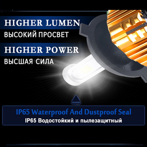 Image 2 - PANDUK faro LED para coche, 16000LM, 4300K, 6000K, 9005 H1, 880 H4, Led H3, H7, LED H11, 3000K, 9006 HB3, HB4, Bombilla Super brillante luz del coche, 12V