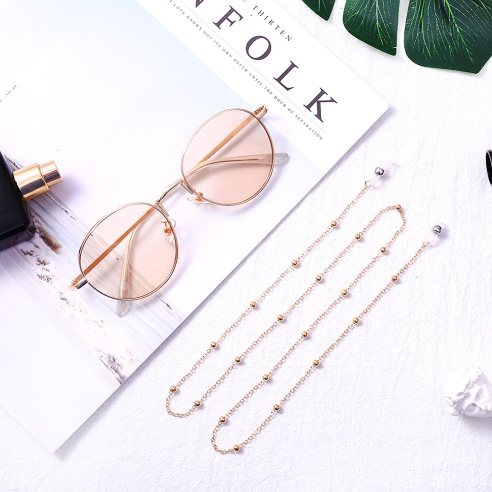 Fashion Womens Gold Silver Eyeglass Chains Sunglasses Reading Beaded Glasses Chain Eyewears Cord Holder neck strap Rope (11)
