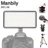 Manbily MFL-06 LED lumière vidéo 4500mAh CRI 96 Ultra mince lumière de remplissage lumineux lampe rechargeable caméra éclairage photographique