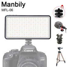 Manbily MFL-06 LED Video Light 4500mAh CRI 96 Ultra Thin Bright Fill Light Lamp Rechargable Camera Photographic Lighting(China)