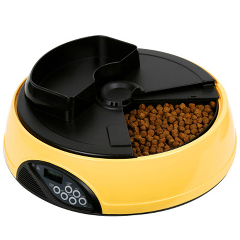 Pet Feeder for Cats Dogs Rabbits Small Animals 4 Meal Trays Dry Wet Food Water Auto