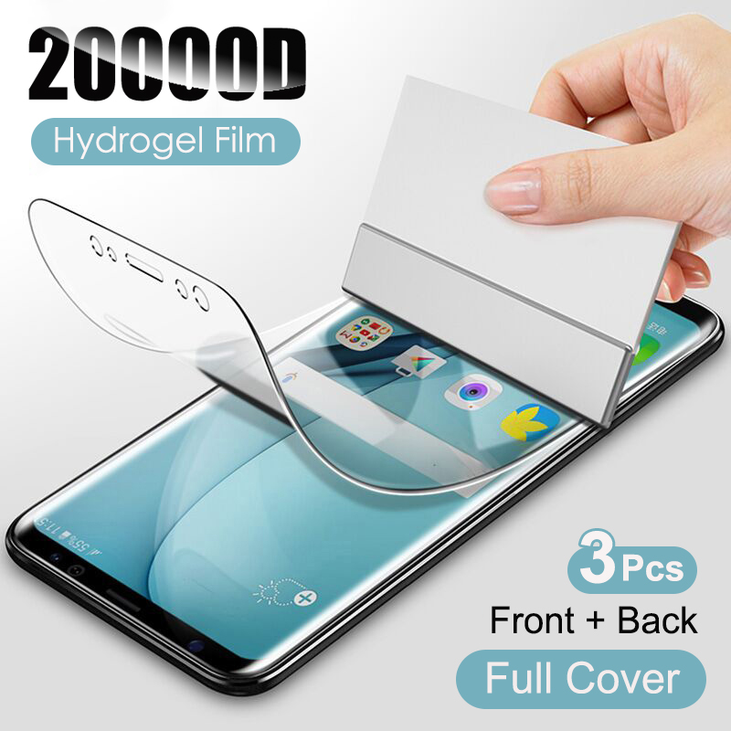 Гидрогелевая пленка для Samsung Galaxy S21 S20 S10 S9 S8 Plus S7 Note 20 10 9 8 A50 A51 A70 A71 A50s, 3 шт.