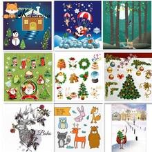 Kokorosa Christmas Clear Stamps Rubber Stamp Santa Tree Deer Background Scrapbooking Album Decor Transparent