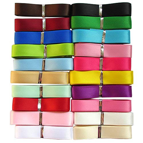 Набор лент 20 мм, 2 см, разные цвета, 10/20 ярдов, набор лент для рукоделия, украшения ручной работы, аксессуары, атласная лента