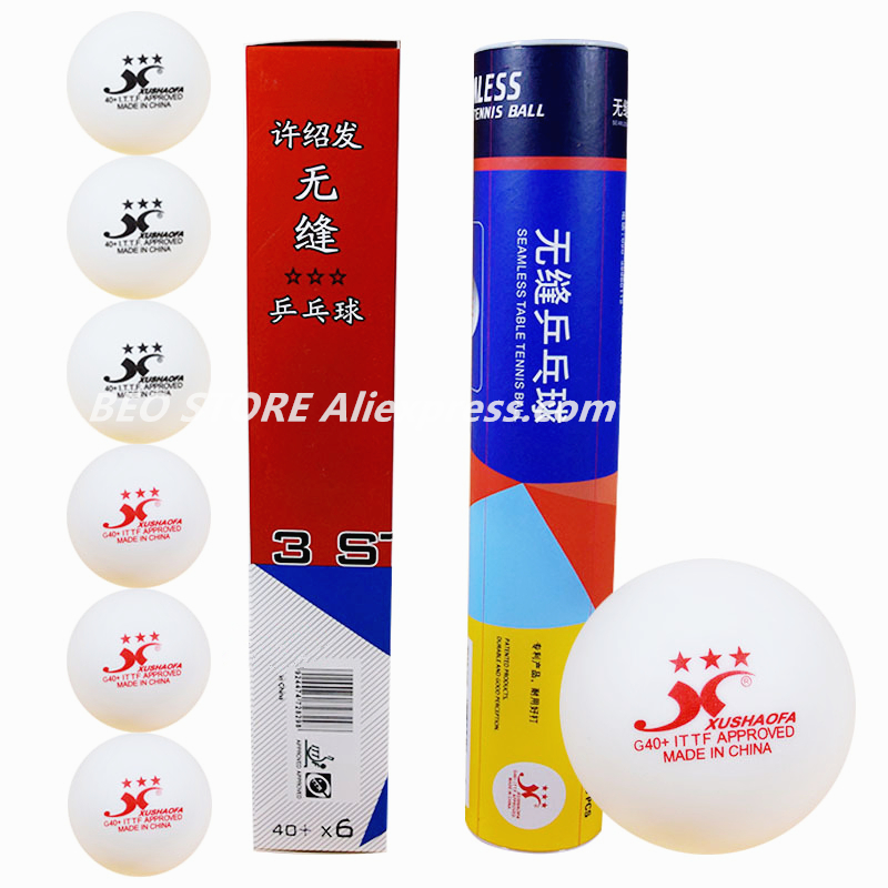 Xushaofa Ball 3-star 40+ G40+ XSF Seamless ITTF Approved New Material Plastic White Poly Table Tennis Ball Ping Pong