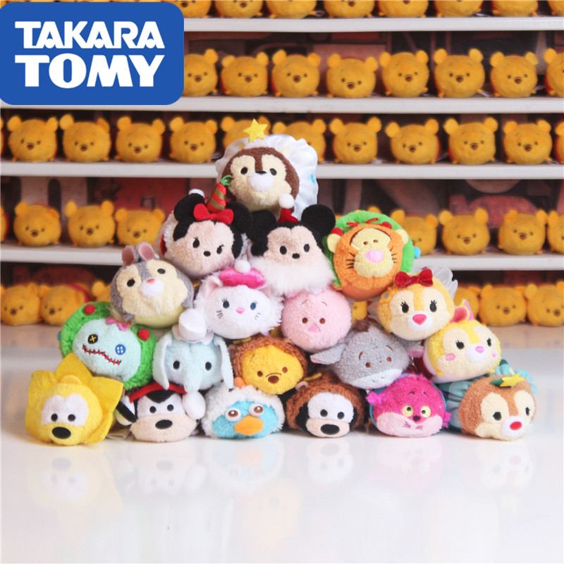 TAKARA TOMY Special Christmas Tsum Tsum Valentine's Day Squirrel Flying Dog Mickey Mouse Plush Doll Pendant